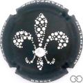 Champagne capsule 32.f Noir et blanc avec strass