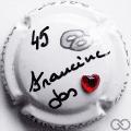 Champagne capsule A3 PALM avec strass, Francine et Jos 45