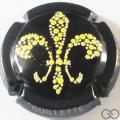 Champagne capsule A9.a Noir et jaune, contour noir et or, numérotée