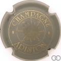 Champagne capsule 8 Gris et or, lettres épaisses