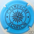 Champagne capsule 11 Bleu pâle et noir, O ovale