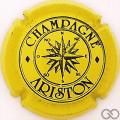 Champagne capsule 5 Jaune et noir, lettres épaisses