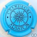 Champagne capsule 11.a Bleu pâle et noir, O rond
