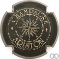 Champagne capsule 6 Noir et or, lettres épaisses
