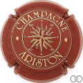Champagne capsule 1 Bordeaux et or, lettres épaisses