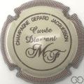 Champagne capsule 2 Crème, contour bordeaux striée