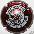 Champagne capsule 9 Blanc sur bordeaux foncé