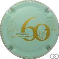 Champagne capsule 18.b Vert pâle et or