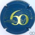 Champagne capsule 18.d Bleu et or