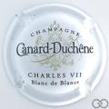 Champagne capsule 76 Blanc, Charles VII, Blanc de Blancs, sans trait