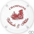 Champagne capsule 1 Blanc et bordeaux
