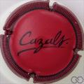 Champagne capsule 9 Rouge, striée