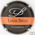 Champagne capsule 3.q Noir, barre orange