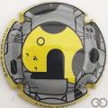Champagne capsule 135.d Contour jaune