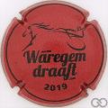 Champagne capsule  Waregem draaft 2019, rouge et noir