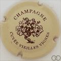 Champagne capsule 1.a Crème et bordeaux foncé, écriture grasse