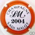 Champagne capsule 32 2004, contour orange