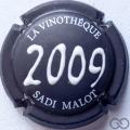 Champagne capsule  Noir et blanc en relief, 2009