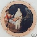 Champagne capsule 6.b J.-A. Watteau, émaillée