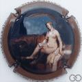 Champagne capsule A1 Rembrandt, émaillée, en relief