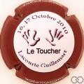 Champagne capsule  Le toucher, contour bordeaux