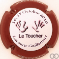 Champagne capsule 43.ef Le toucher, contour bordeaux