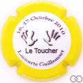 Champagne capsule 43.ee Le toucher, contour jaune