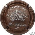 Champagne capsule 7 Marron métallisé et argent
