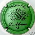 Champagne capsule 5 Vert métallisé et noir