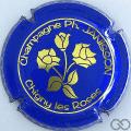 Champagne capsule 19 Bleu foncé, roses or