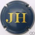 Champagne capsule 20.a Bleu foncé et or, sans inscriptions sur contour