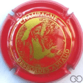 Champagne capsule  Fond rouge et or