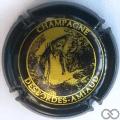Champagne capsule  Fond noir et or