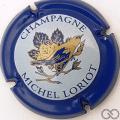 Champagne capsule 7 Contour bleu, centre bleu