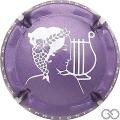 Champagne capsule 19.h Violet métallisé  et blanc