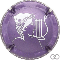 Champagne capsule 19.h Violet et blanc