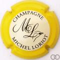 Champagne capsule 17.ba Contour jaune, fond crème