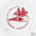 Champagne capsule 7 Blanc et bordeaux