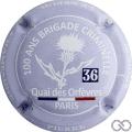 Champagne capsule 91.e Fond mauve