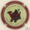 Champagne capsule 19.d Contour bordeaux foncé