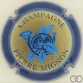 Champagne capsule 19 Contour bleu