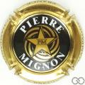 Champagne capsule 14.f Noir et or pâle, grandes lettres sur le contour