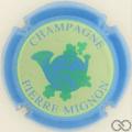 Champagne capsule 19.f Contour bleu pâle