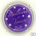 Champagne capsule 33.j Violet, contour argent
