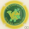 Champagne capsule 19.c Contour jaune