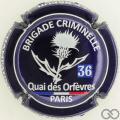 Champagne capsule 91.b Fond bleu foncé métallisé