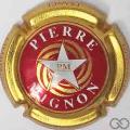 Champagne capsule 14.q Rouge, contour or, étoile blanche