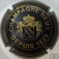 Champagne capsule 24 Noir, striée