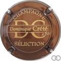 Champagne capsule  Marron métallisé et or