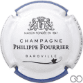 Champagne capsule A1.a Contour blanc et bleu, couleur longue